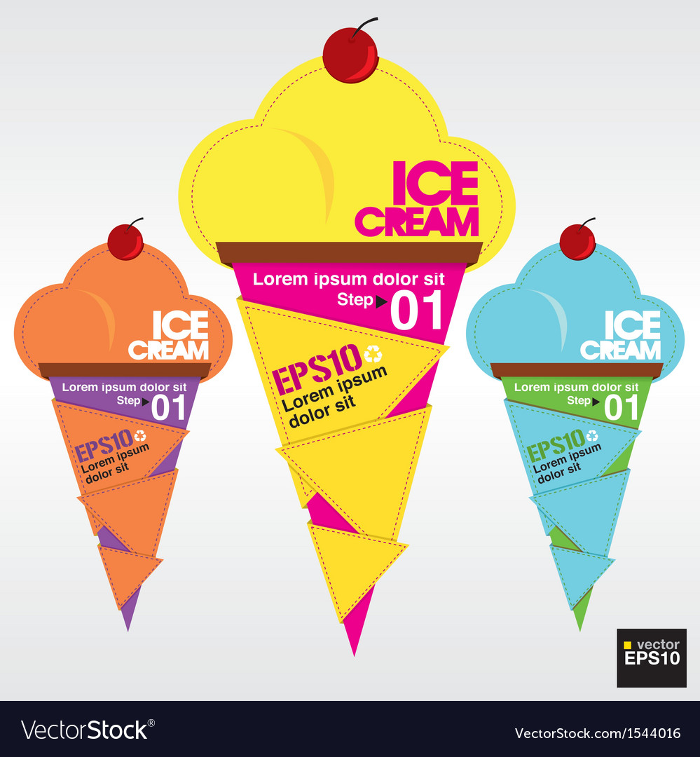 Colorful ice cream EPS10 vector image
