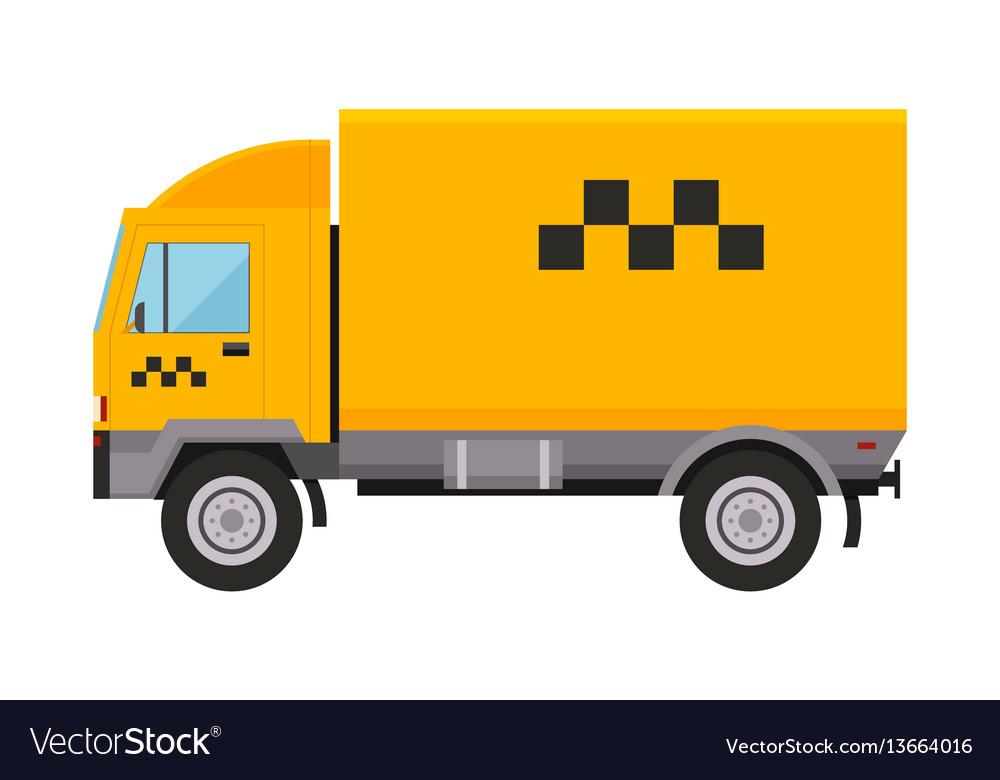 Yellow Taxi Truck Van Car Royalty Free Vector Image
