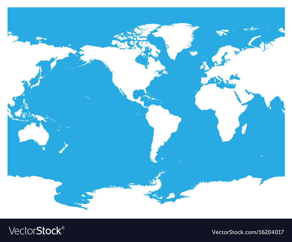 Australia And Pacific Ocean Centered World Map Vector Image - World map pacific ocean