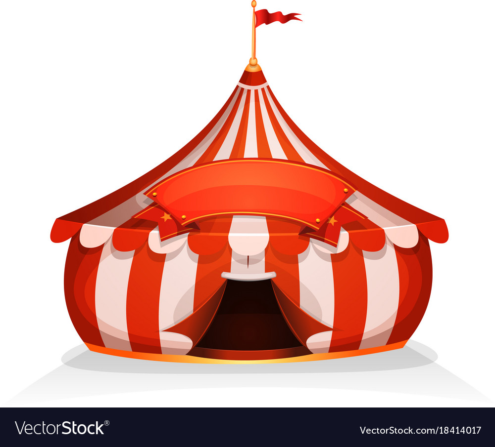 Big top little circus tent with banner vector image  sc 1 st  VectorStock : circus tent top - memphite.com