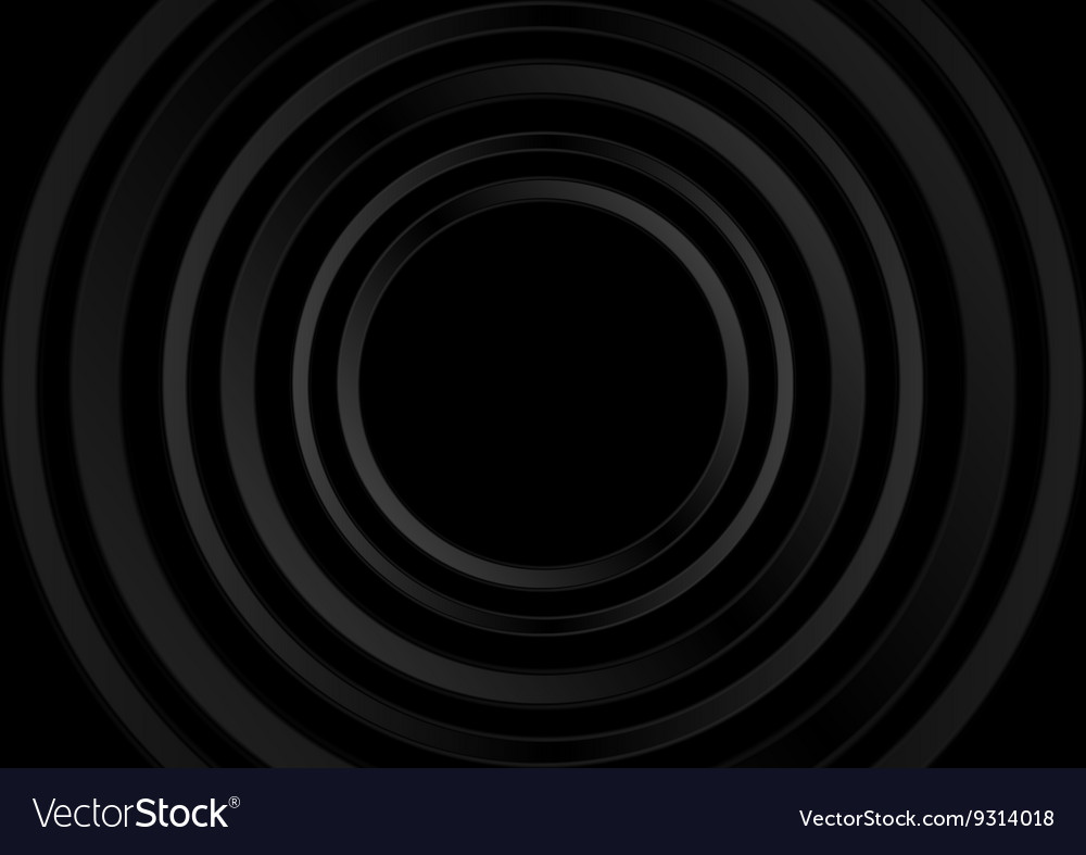 Abstract black technology rings design vector image