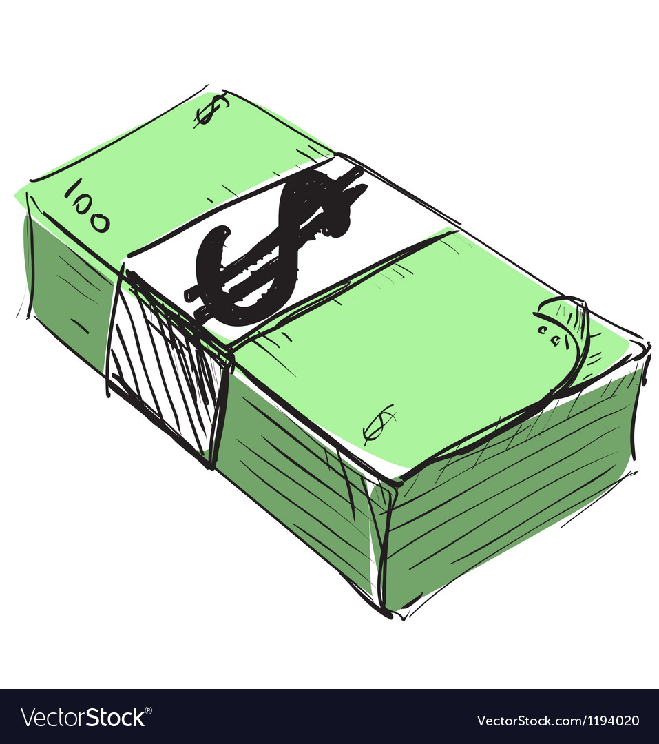 Dollar cash money icon vector image