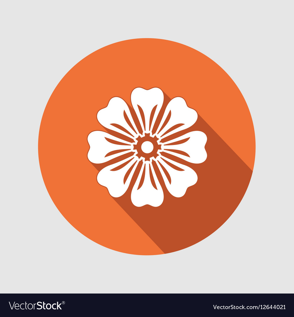Flower icon chamomile aster daisy royalty free vector image flower icon chamomile aster daisy vector image izmirmasajfo Image collections