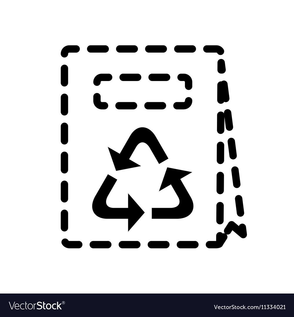 Handbag or shopping bag icon vector image