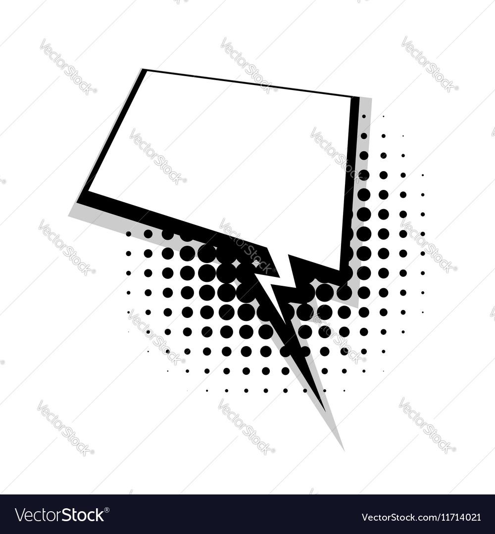 Template comic speech square lightning bubble vector image