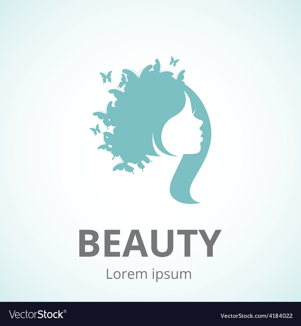 Abstract logo woman face in profile vector image