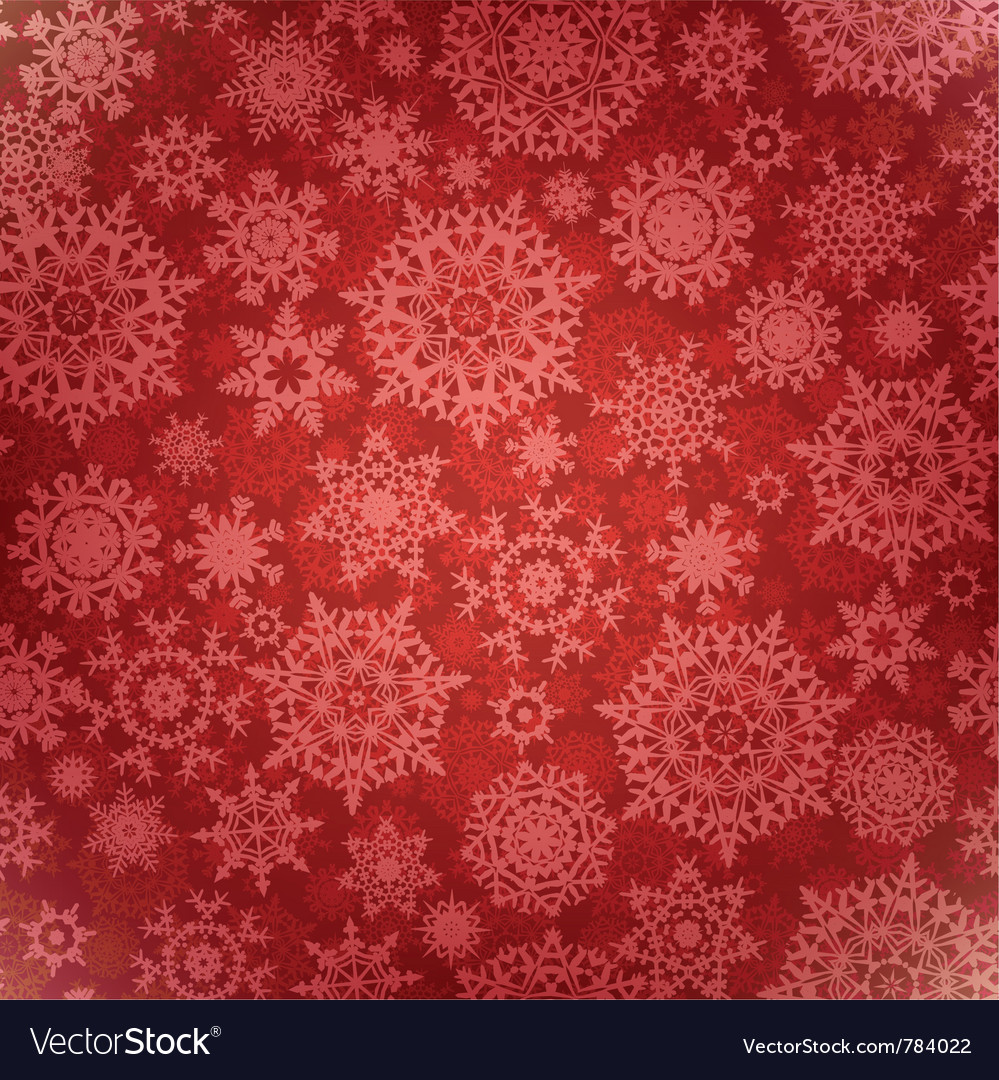 Christmas pattern snowflake vector image