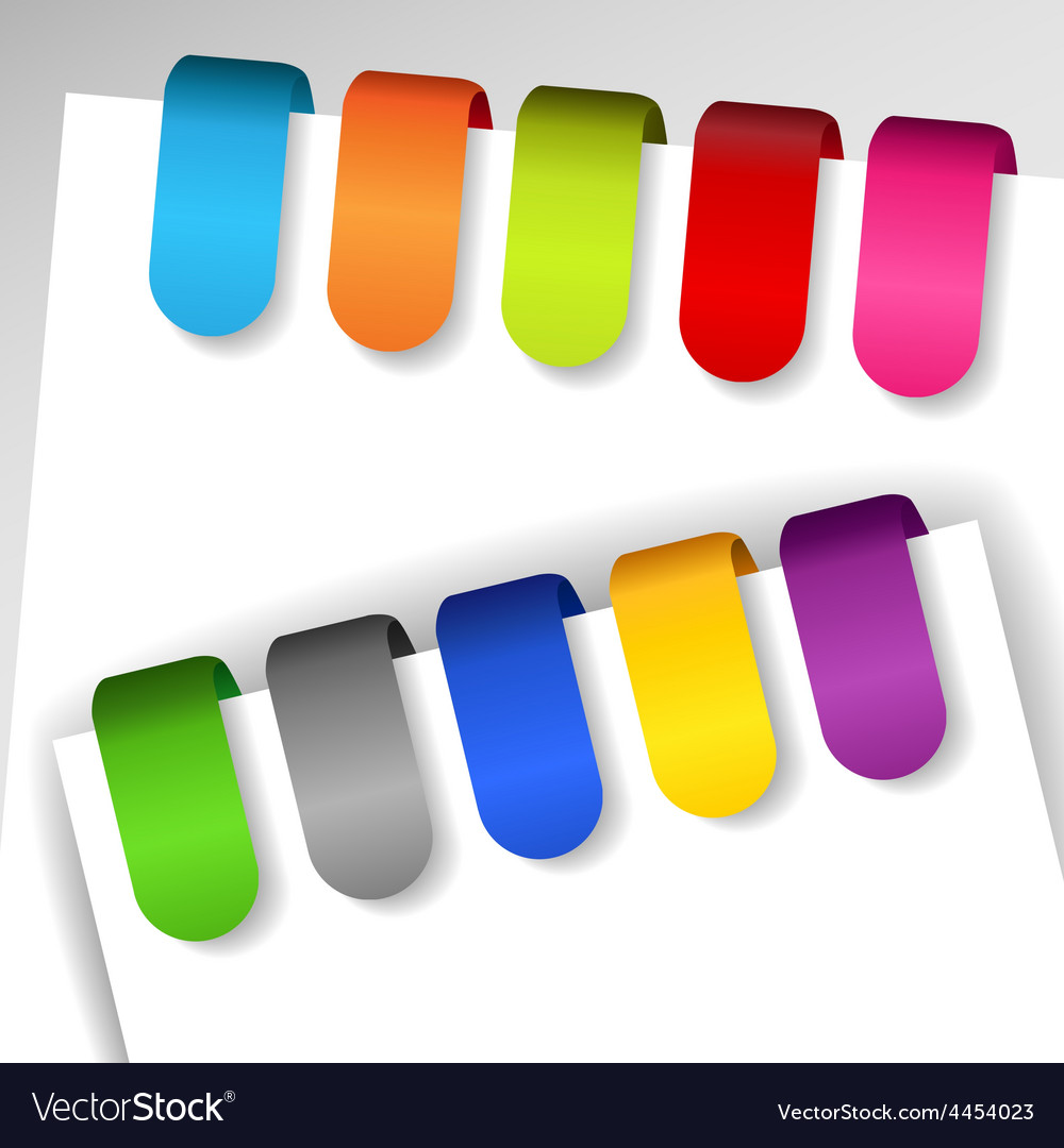 Colorful paper tags vector image