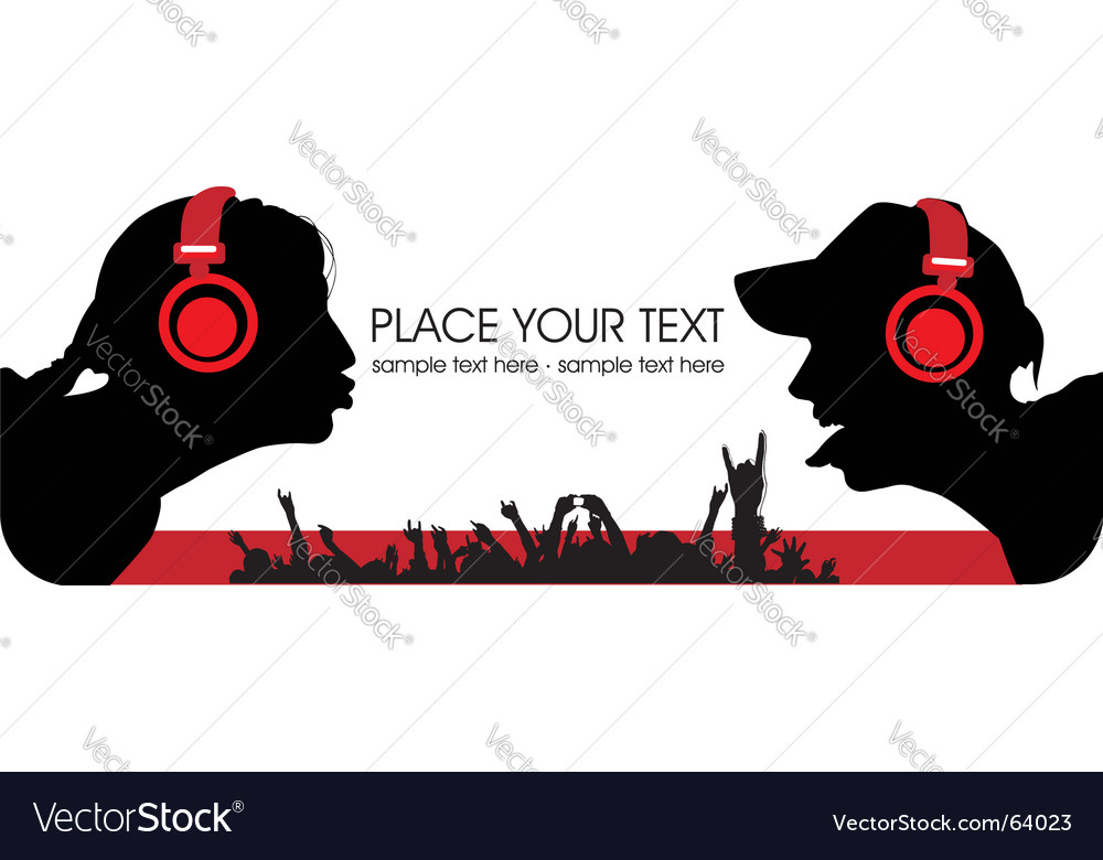 Music people vector image
