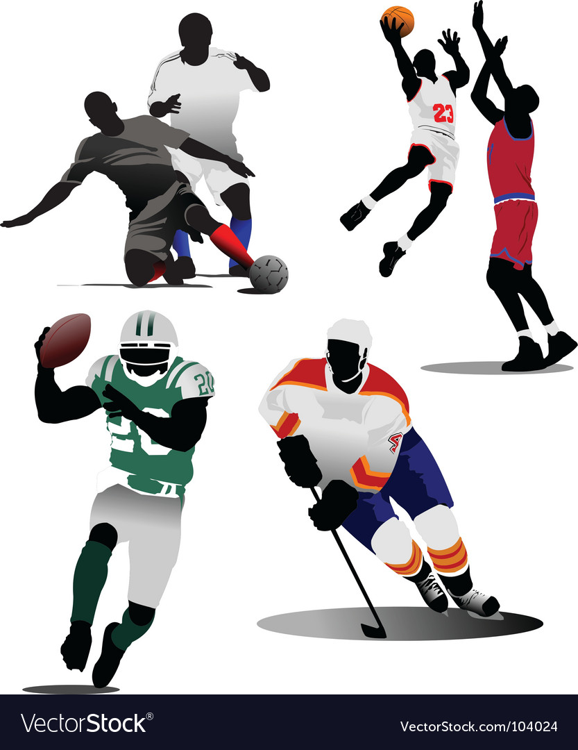 Sports game vector image