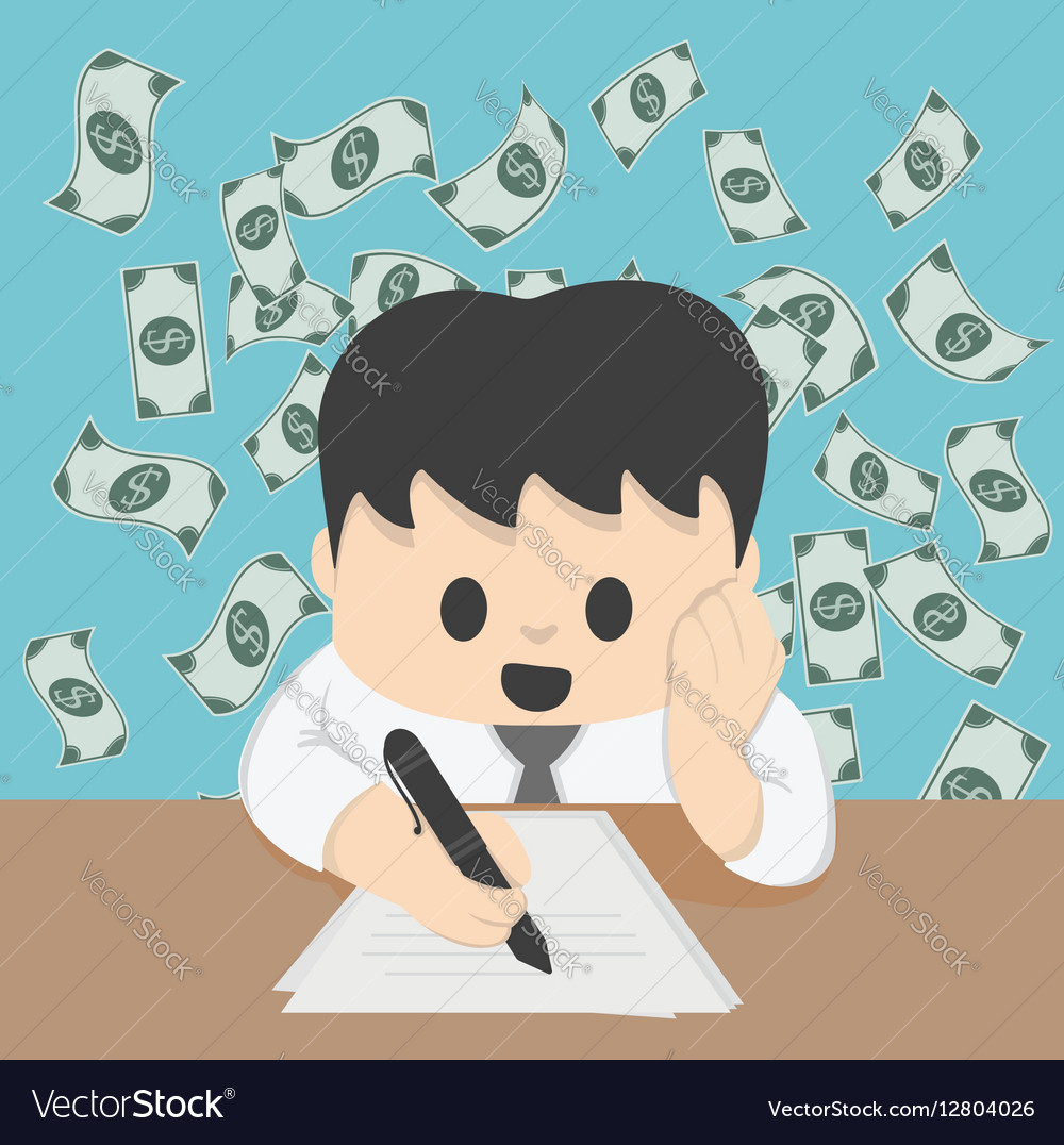 Businessman financial planning on table Concept vector image