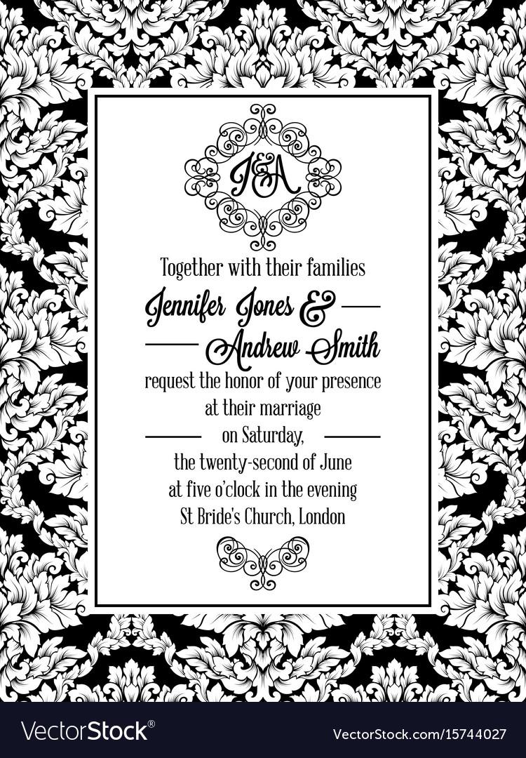 Luxury Wedding Invitation Vector Adornment - Invitations Design ...
