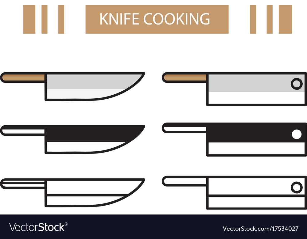 Knife cooking vector image