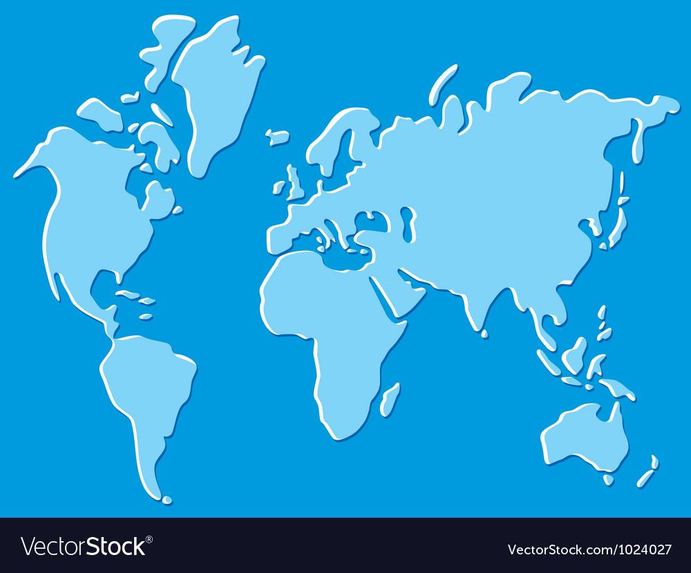 World map royalty free vector image vectorstock world map vector image gumiabroncs Image collections
