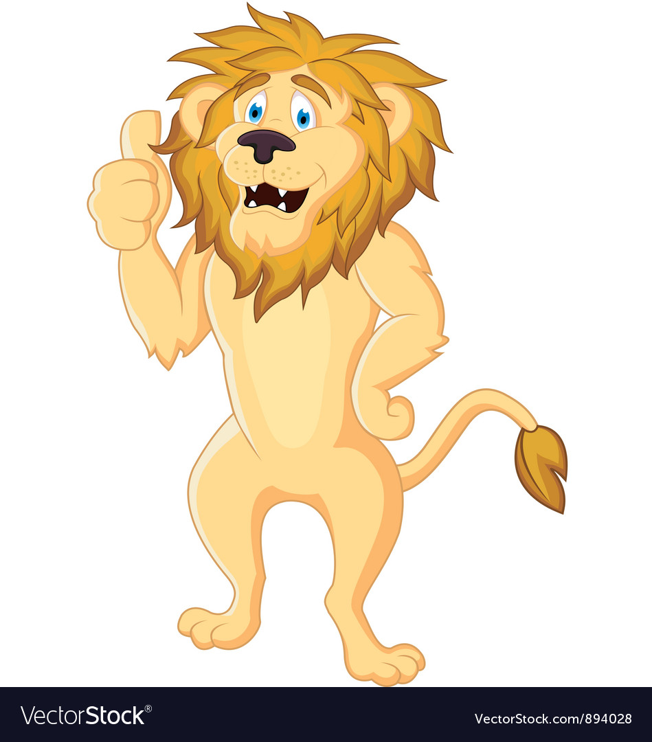 cute lion cartoon isolated royalty free vector image