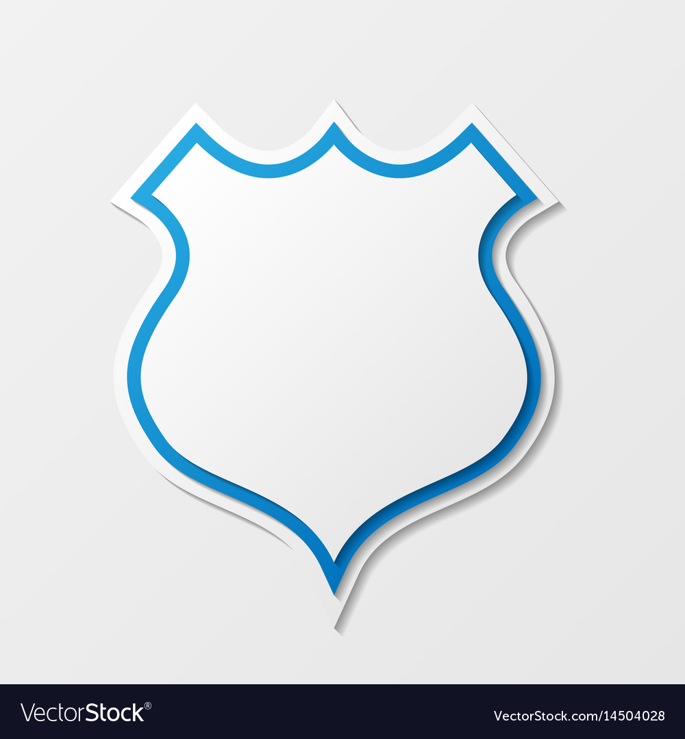 Shield abstract silhouette vector image