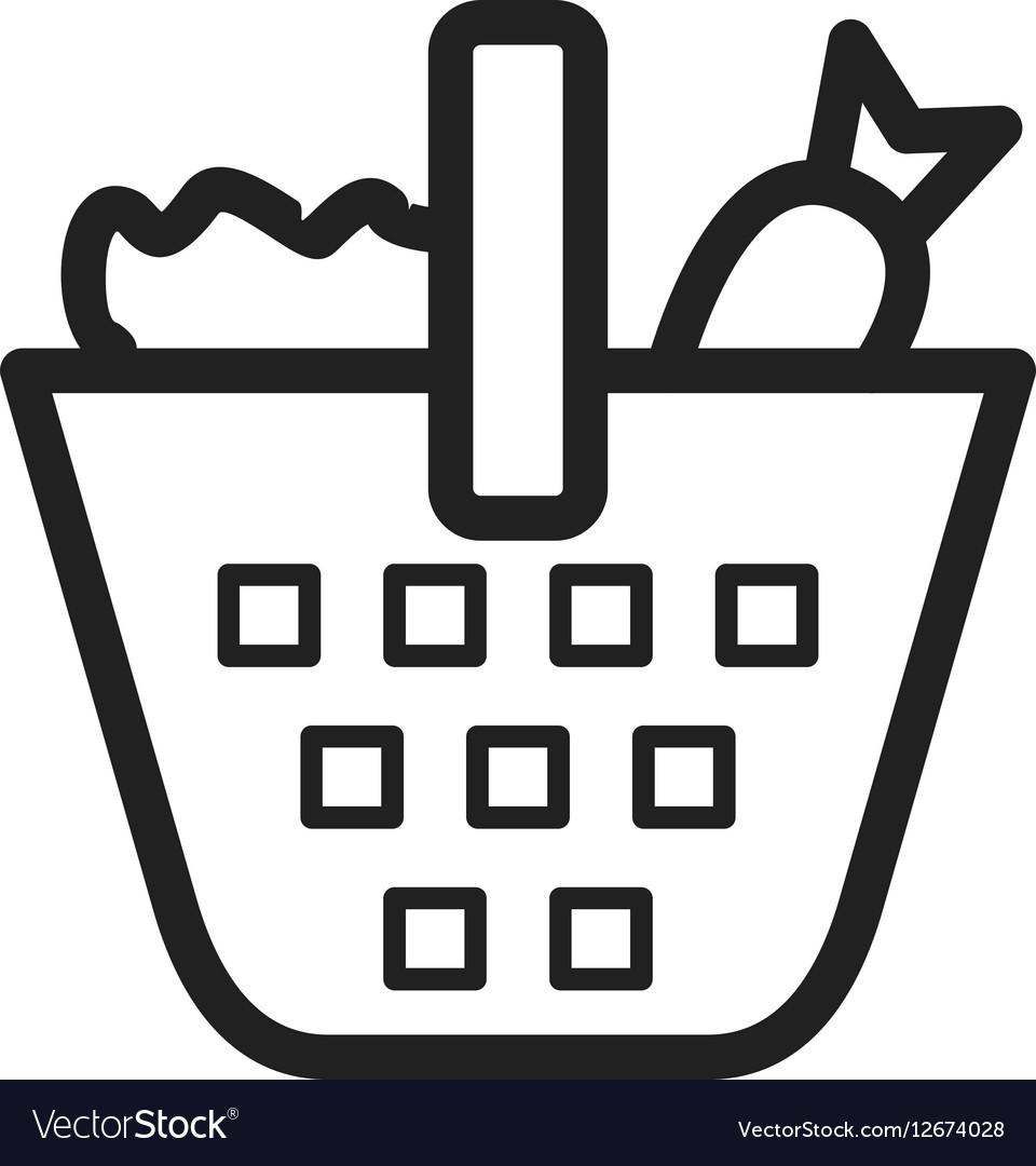 Vegetable Basket vector image