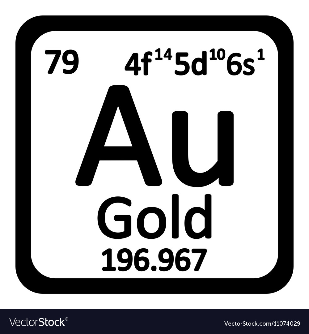 Periodic table element gold icon royalty free vector image periodic table element gold icon vector image urtaz Gallery