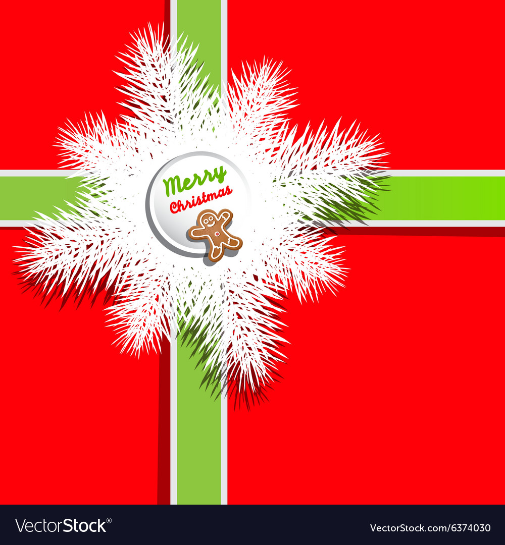 Red Background Christmas Present - Gift Box Cover vector image