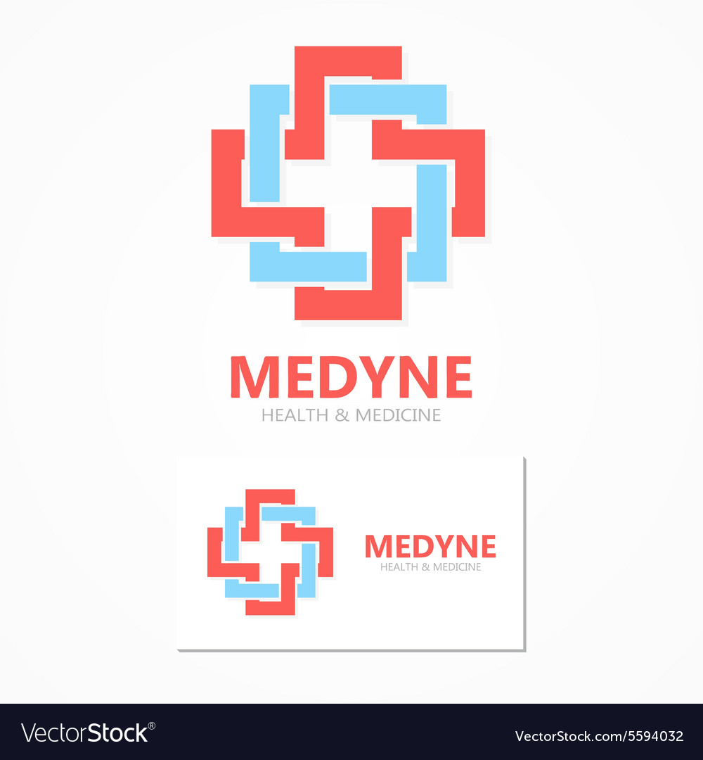 Medical logo design template vector image