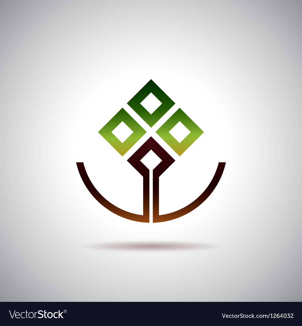 Smiling tree vector image