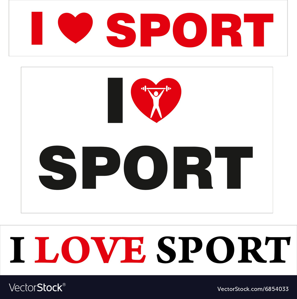 LoveSport vector image