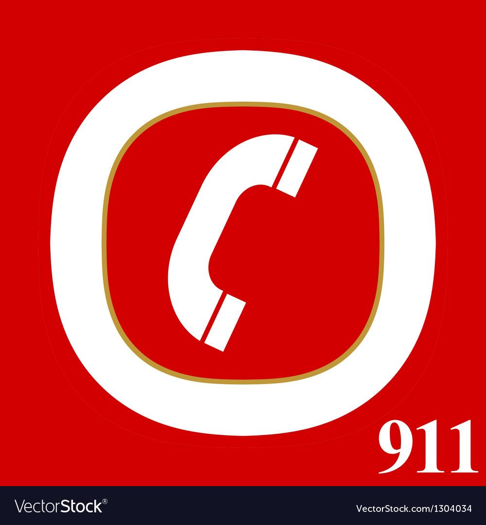 911 emergency vector image