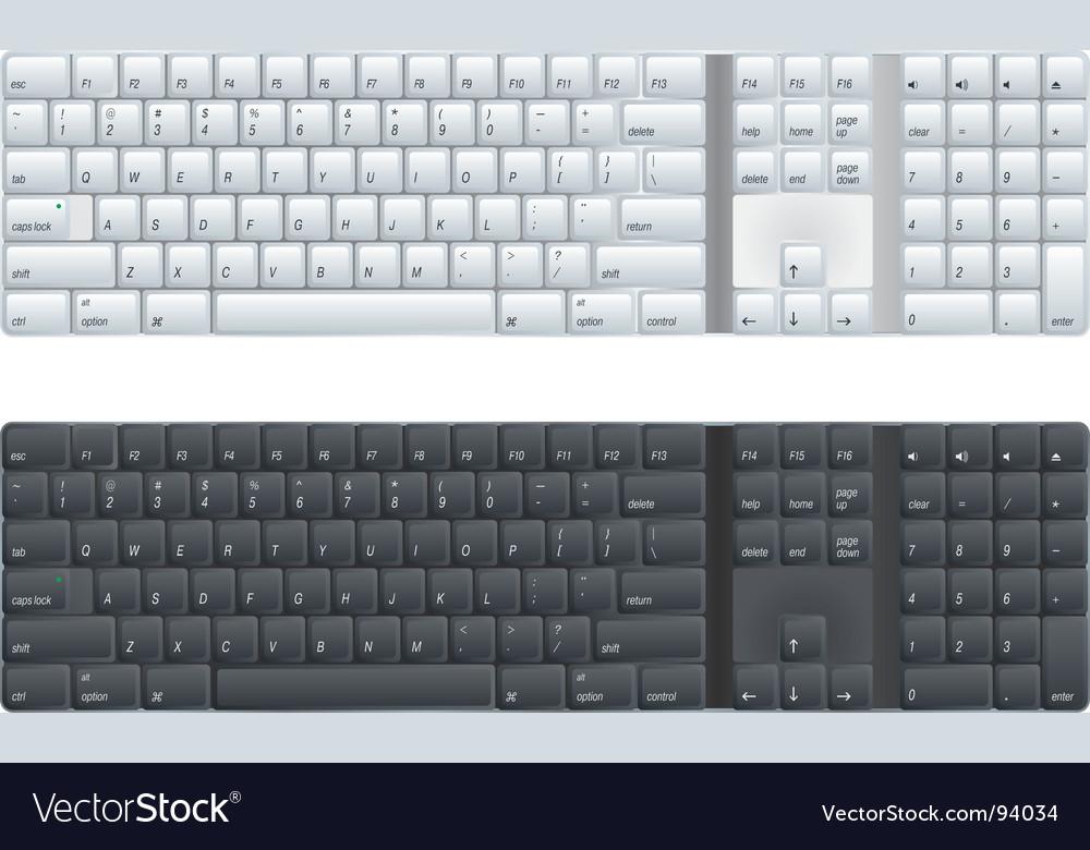 Computer keyboard vector image