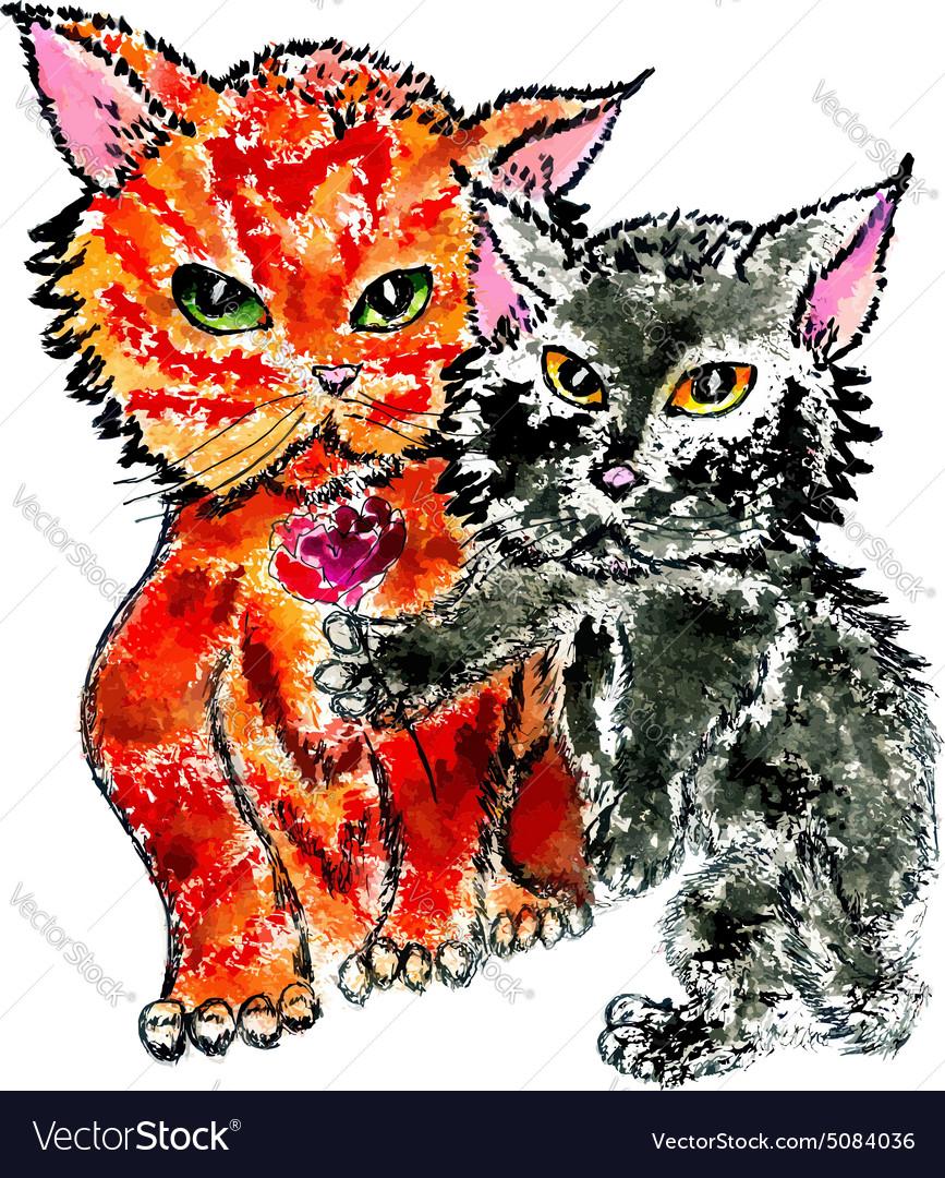 Cute Kittens vector image