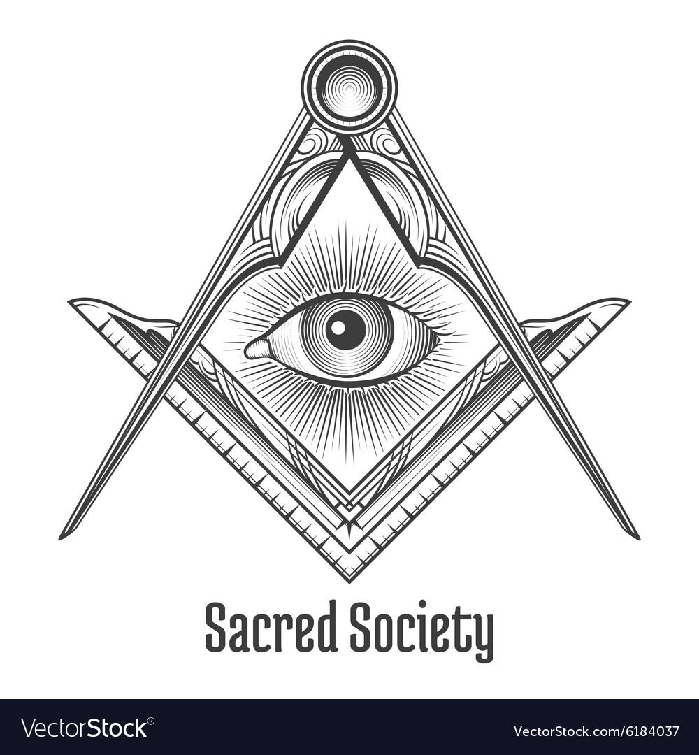 Masonic square and compass symbol royalty free vector image masonic square and compass symbol vector image buycottarizona Images