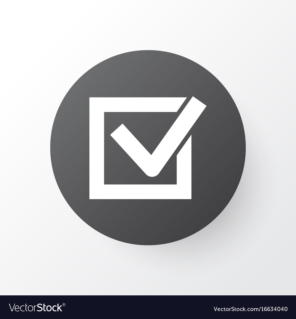 Task icon symbol premium quality isolated check vector image