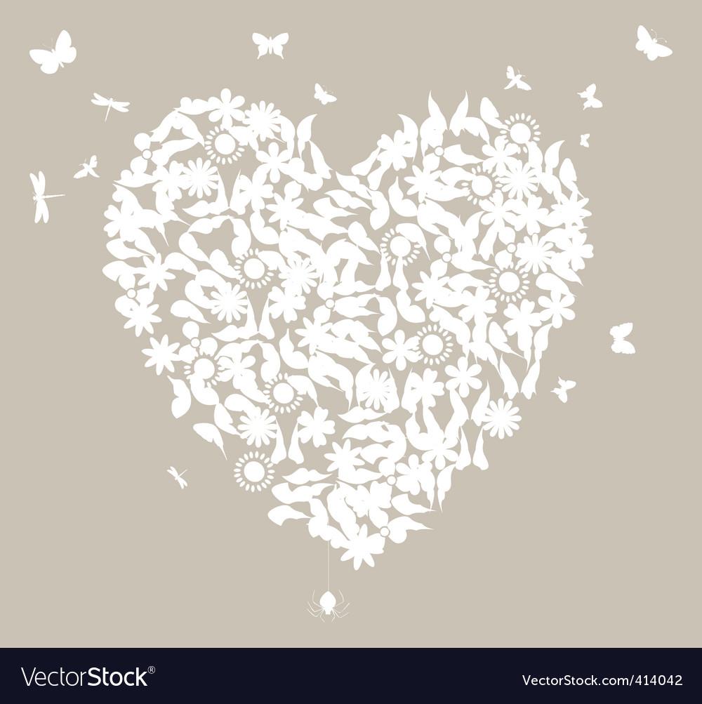 Wedding heart vector image