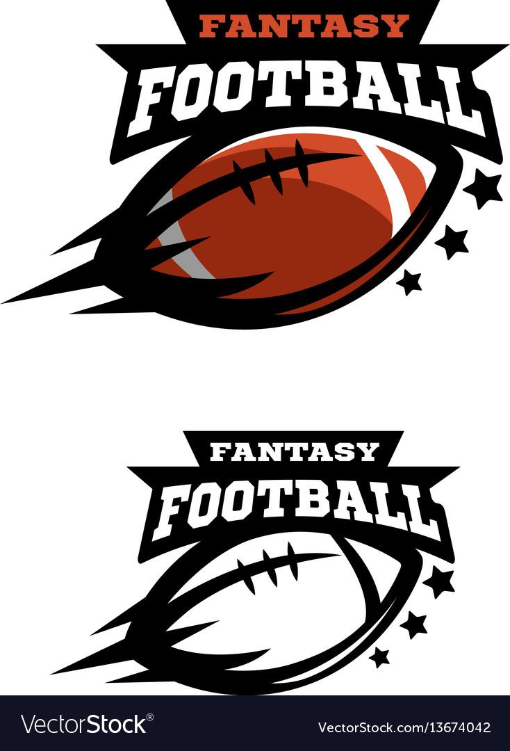 American football fantsy two options logo vector image