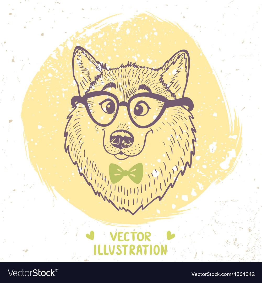 Dog stylish vector image