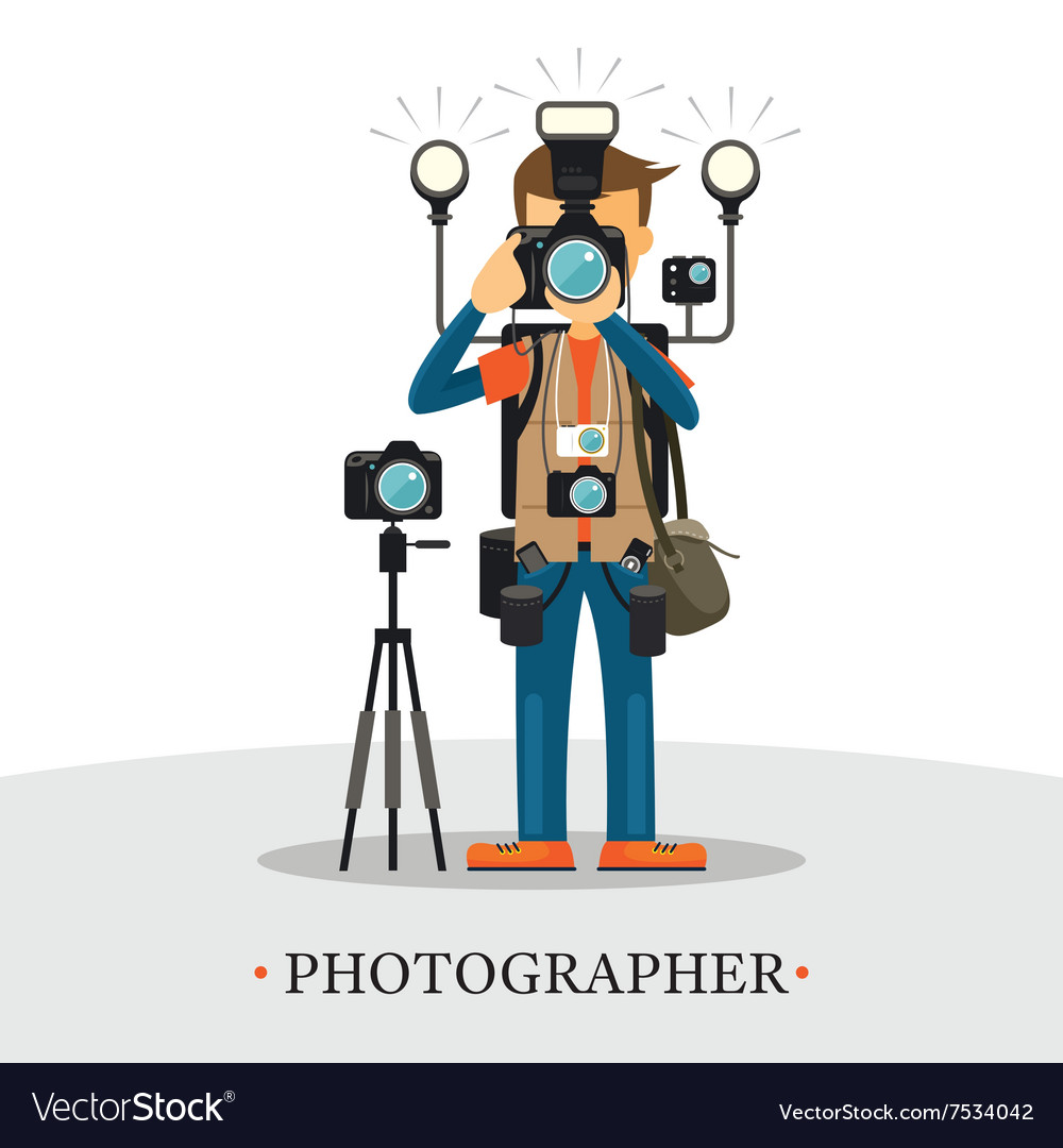 Super Equipment Photographer vector image
