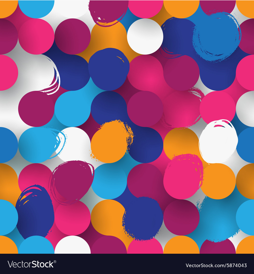 Seamless flat background vector image