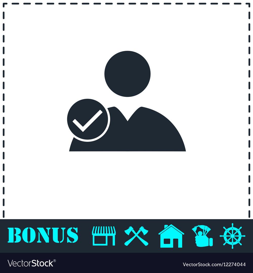 User check icon flat vector image