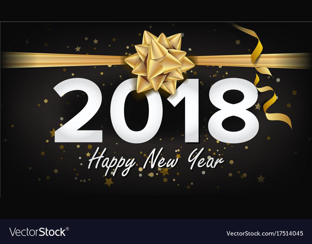 2018 new year banner beautiful invitation vector image 2018 new year banner beautiful invitation vector image stopboris Image collections