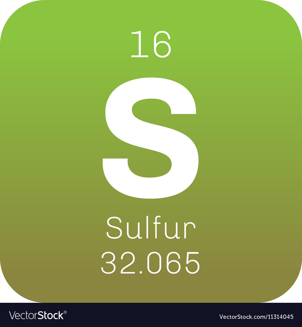 Sulfur chemical element royalty free vector image sulfur chemical element vector image buycottarizona Image collections