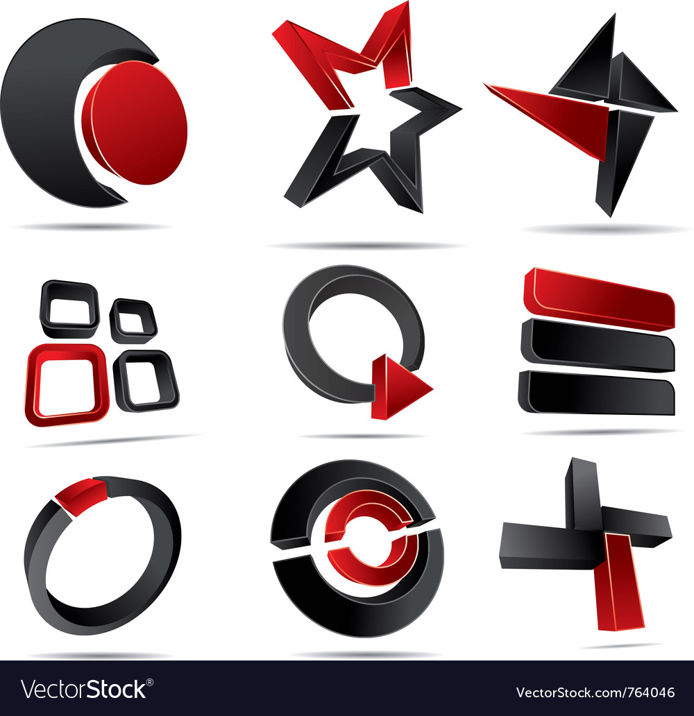 3d logo forms vector image