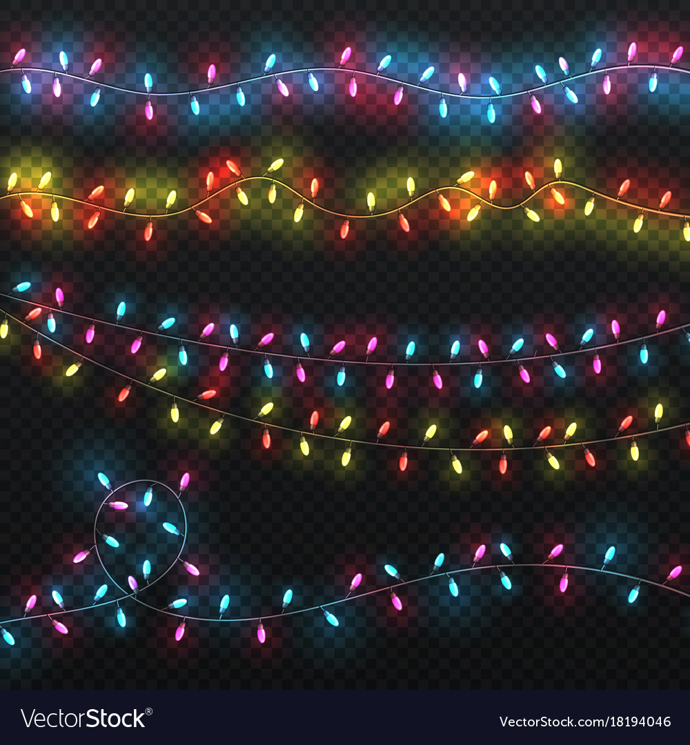 Festive christmas lights xmas lighting carnival vector image & Festive christmas lights xmas lighting carnival Vector Image azcodes.com