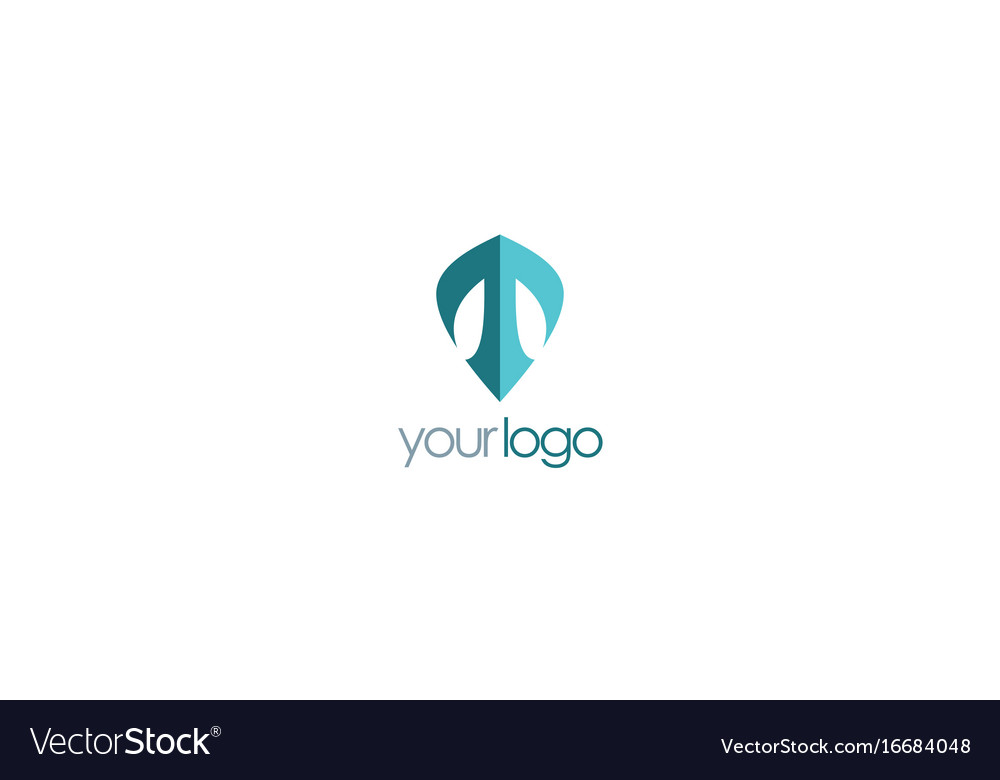 letter t shield logo royalty free vector image