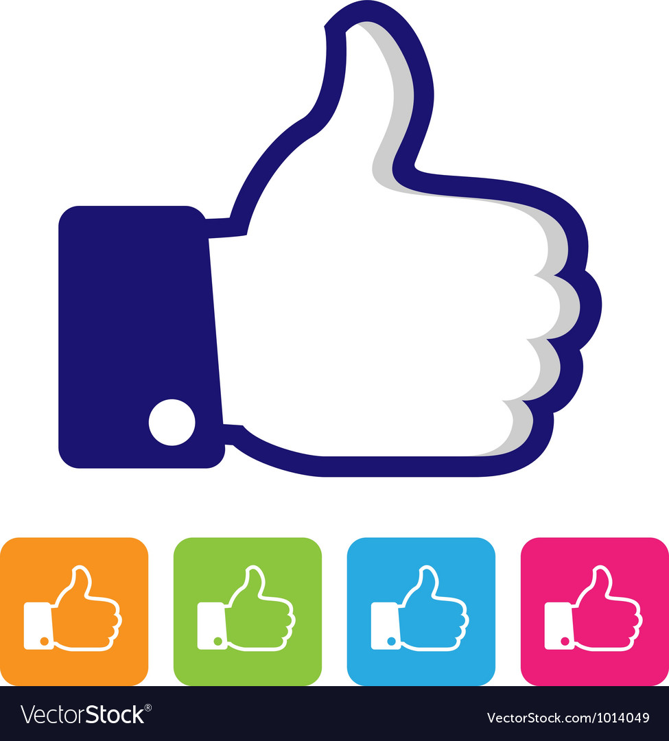 Thumbs up like symbol vector image
