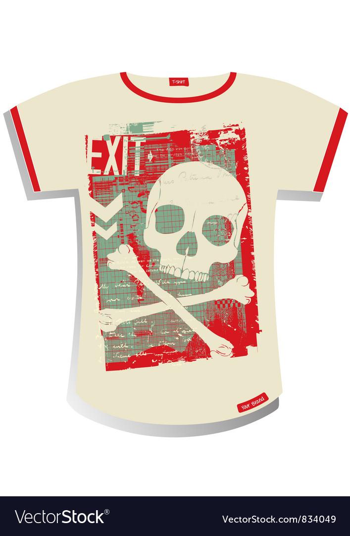 Grunge T-shirt Design vector image