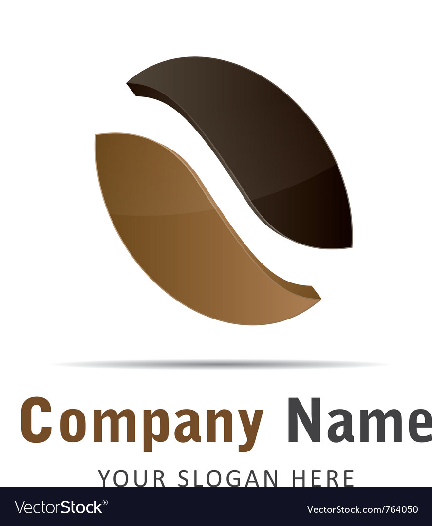 Corporate brand logo logo coffee beans brown vector image