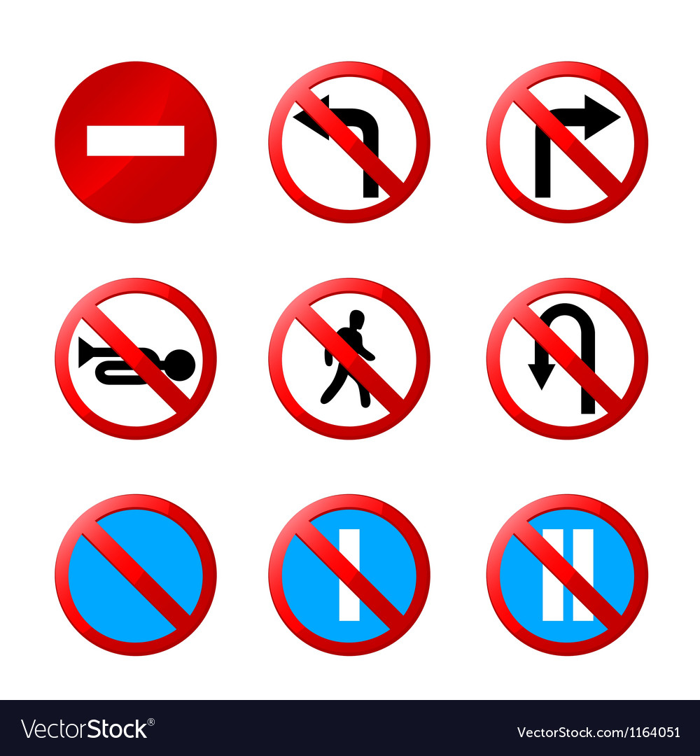 European road signs with details vector image