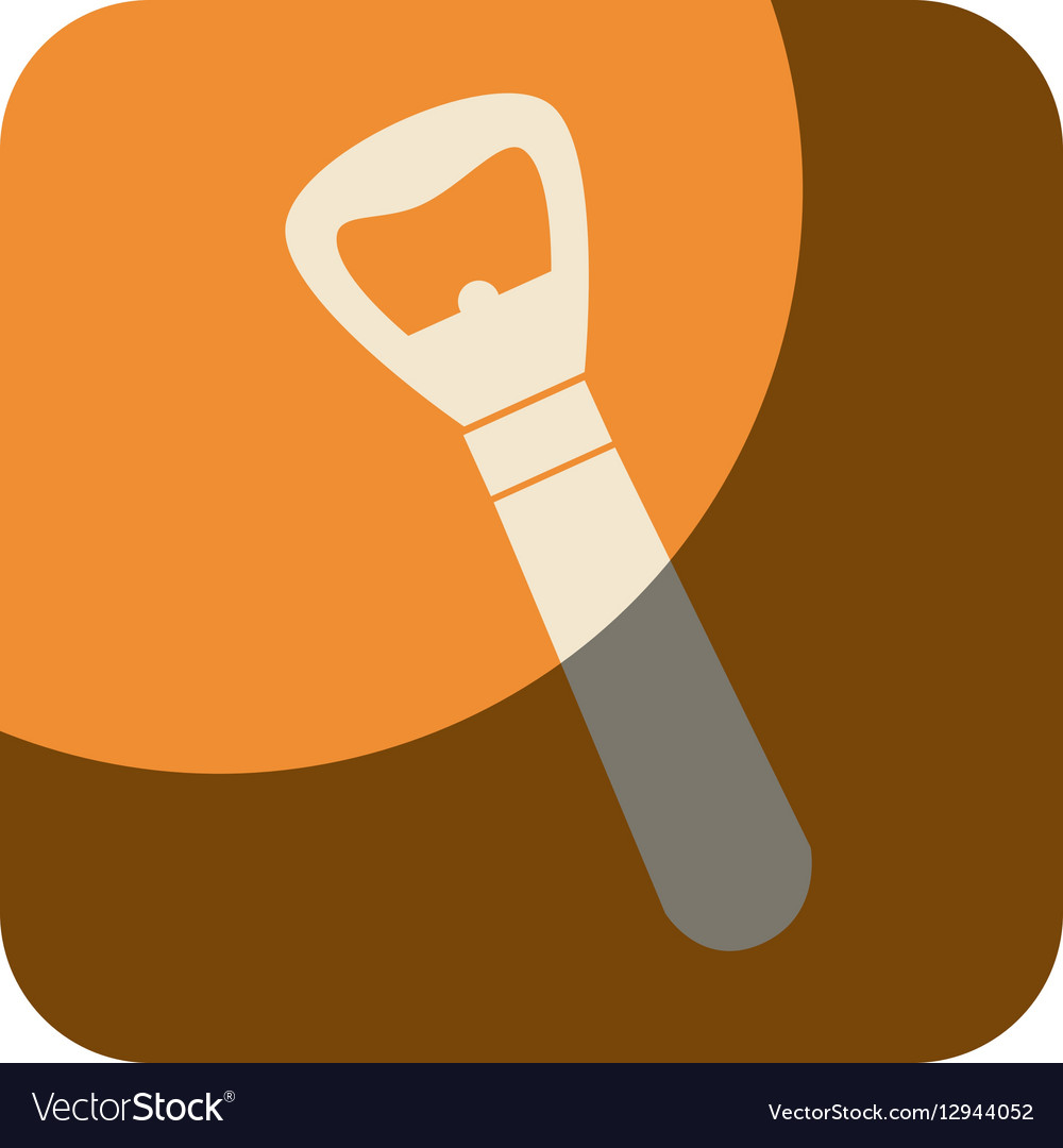 Bottle opener drink isolated icon vector image