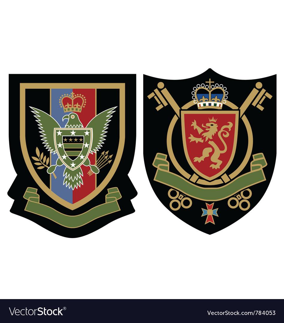 Royal emblem badge vector image