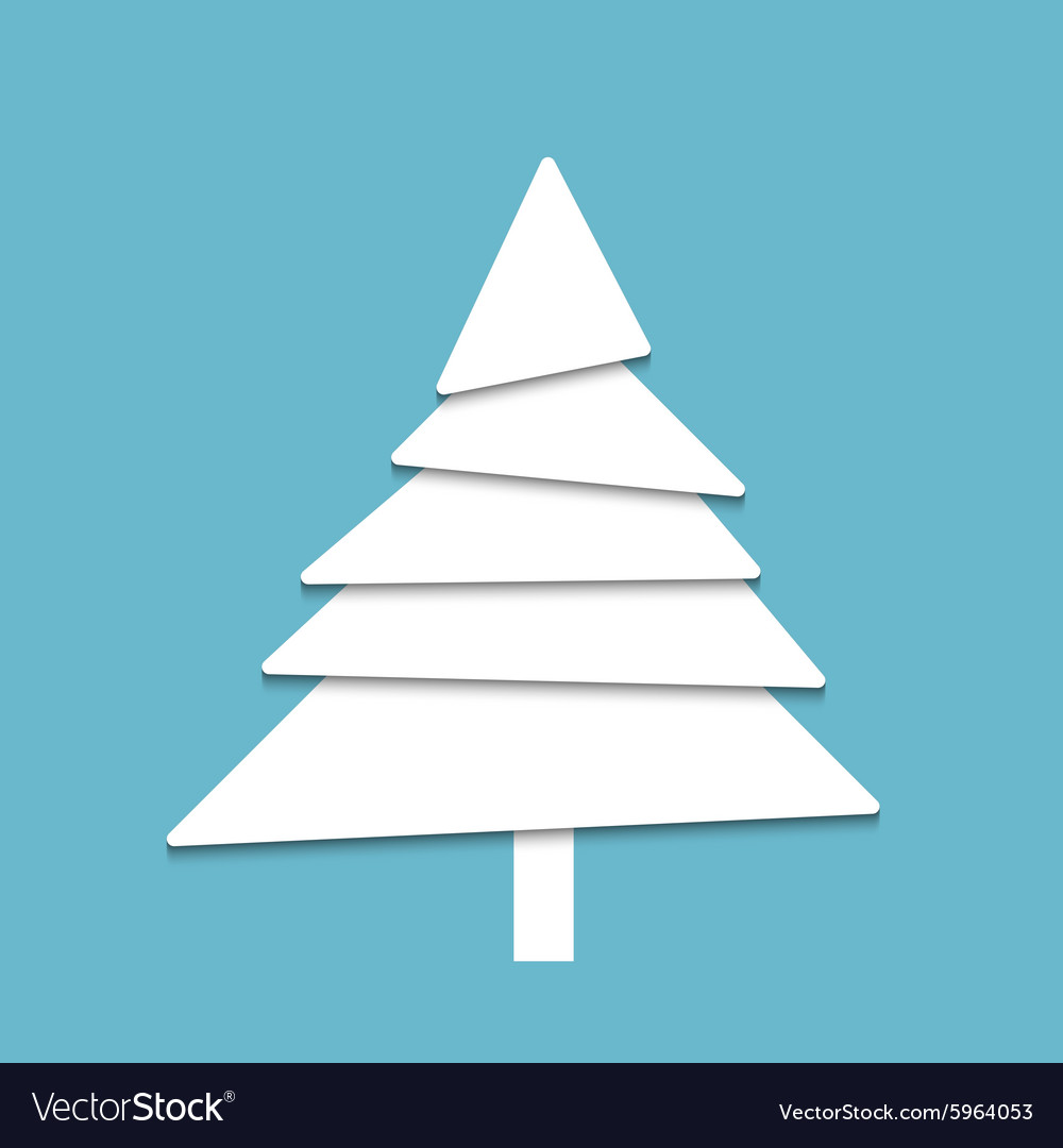 Creative paper tree vector image