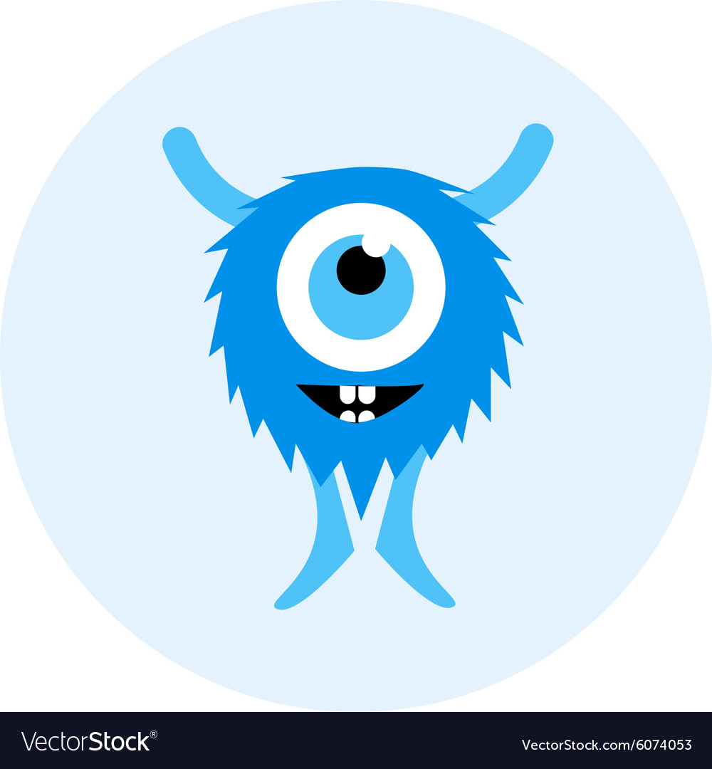 set of cartoon cute monsters and aliens royalty free vector
